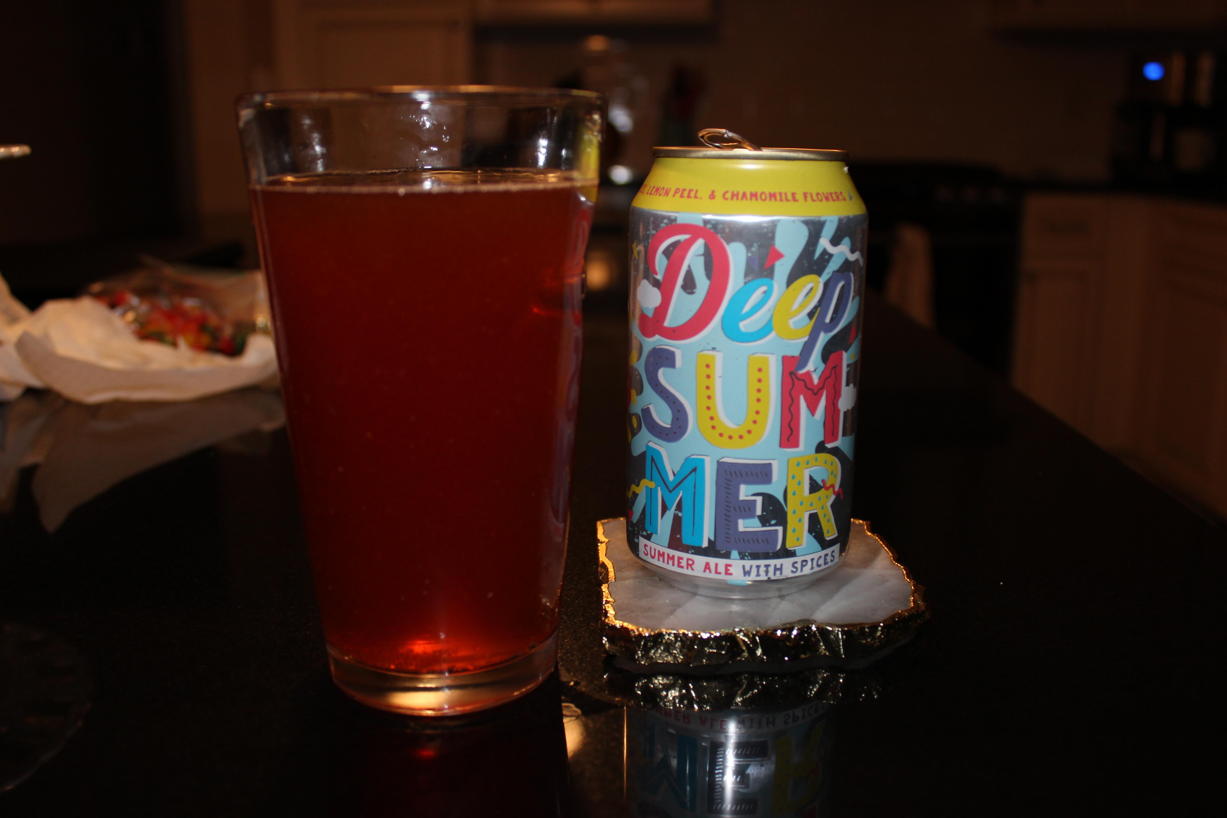 Deep Ellum Deep Summer Ale in a pint