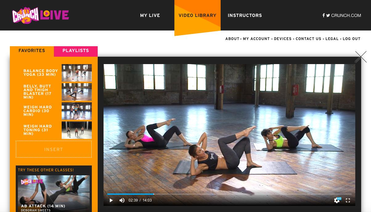 Free for next 45 days: Crunch Fitness' online class portal