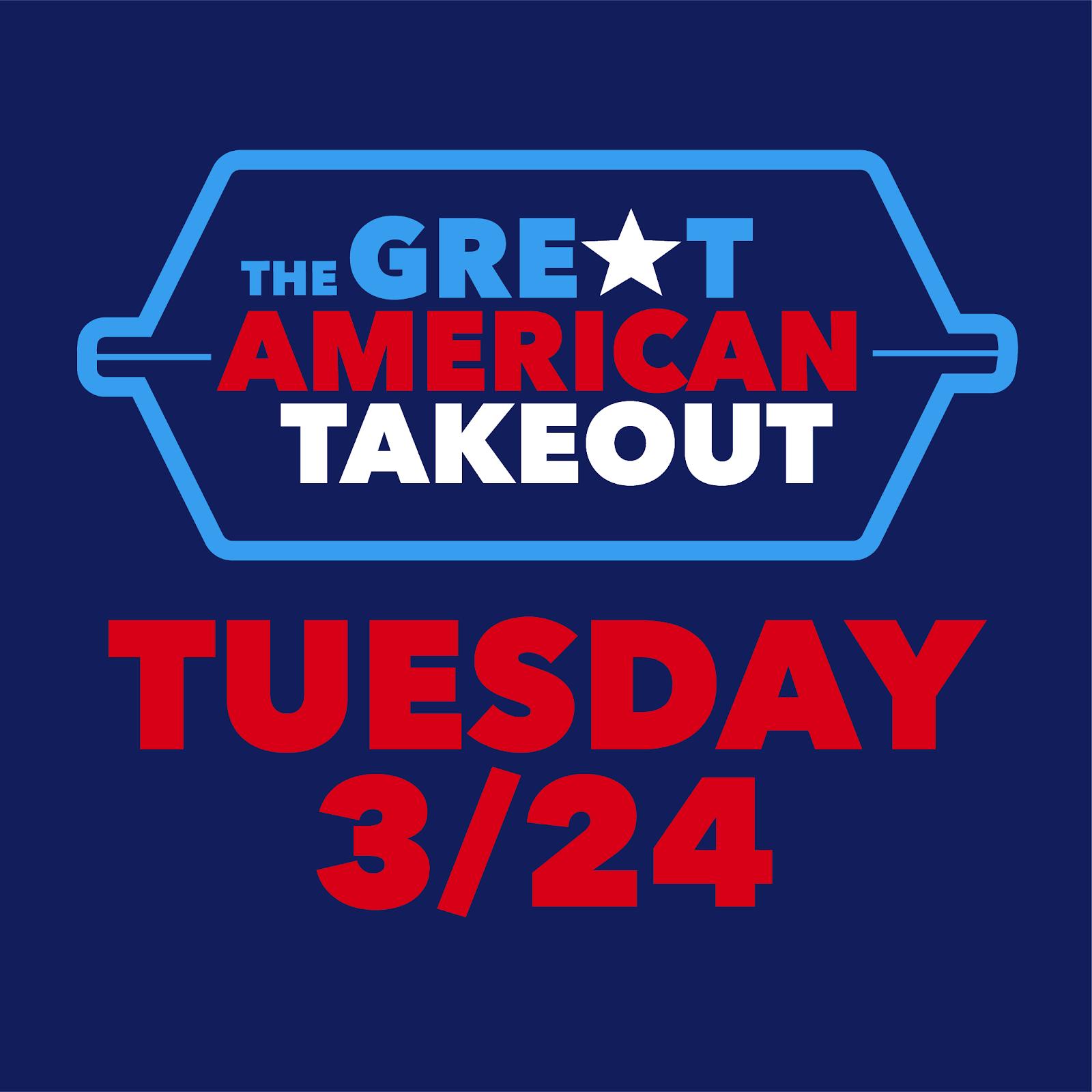 Join #TheGreatAmericanTakeout