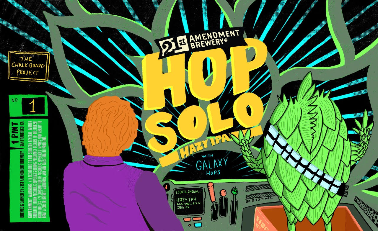 """21st Amendment Brewery Announces """"Chalkboard Project"""" Featuring Debut Release """"Hop Solo Hazy IPA"""""""